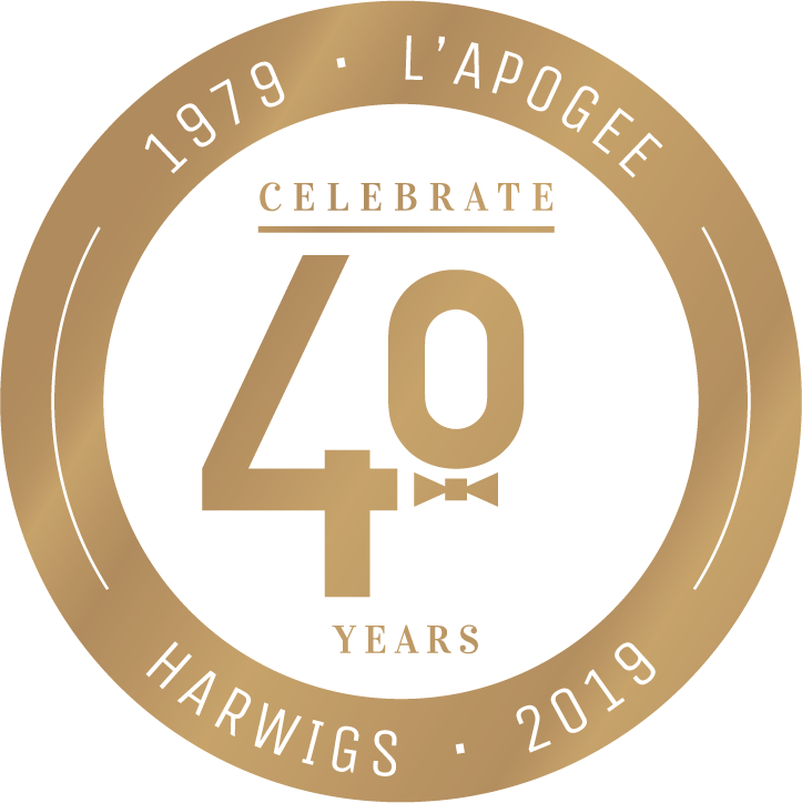 Harwigs 40 Year Logo